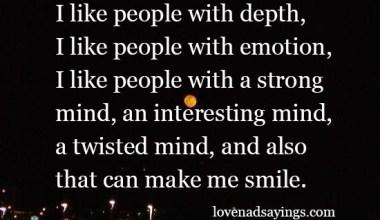 I like people with emotion
