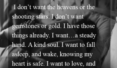 I want to love and be loved