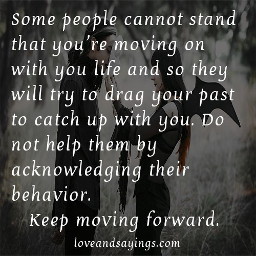 Moving on with your life