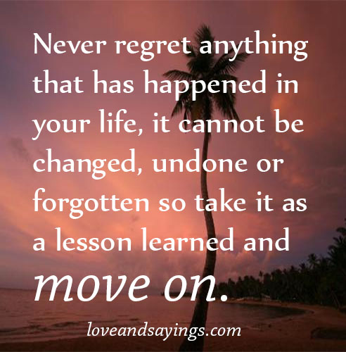 A Lesson Learned And Move On