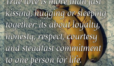 Commitment To One Person For Life