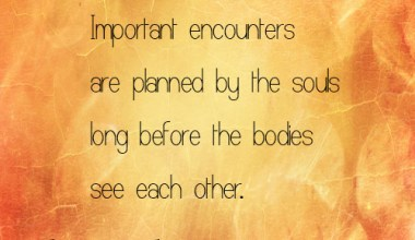 Important encounters are planned by
