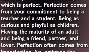 There is no such thing as the perfect relationship