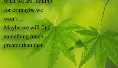 Maybe we will find something much greater than that