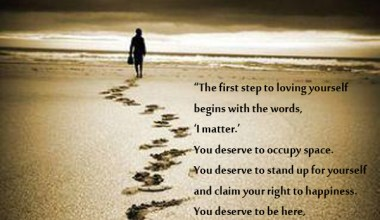 The First Step loving Yourself Begins With The Words