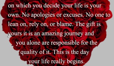You Decide Your Life Is Your Own