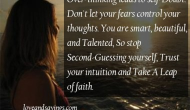 Don't Let Your Fears Control your Thoughts