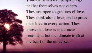 The secret of attraction is to love yourself.