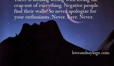 There is nothing wrong with loving