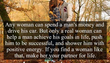 Only A Real Woman Can Help A Man Achieve His Goals In Life