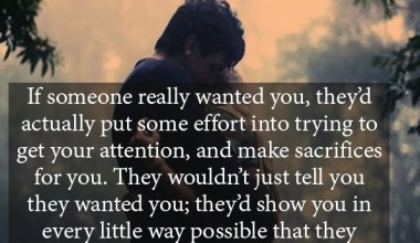 If someone really wanted you, they would show you