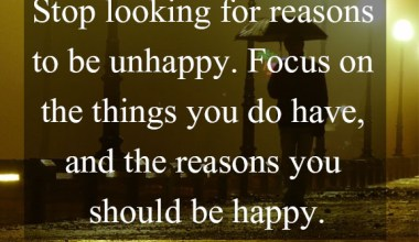 The Reasons You Should Be Happy