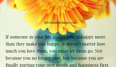 Your Own Needs And Happiness First