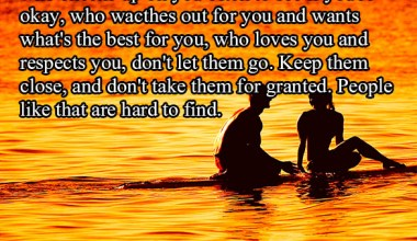 Who loves you and respect you