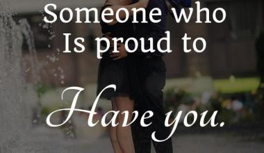 Is Proud To Have You