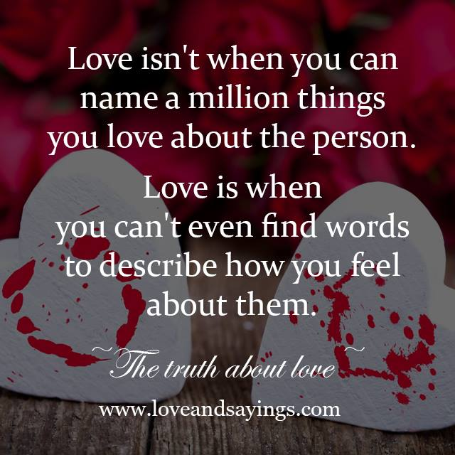 Can T Find Love Quotes: Love Is When You Can't Even Find Words To Describe