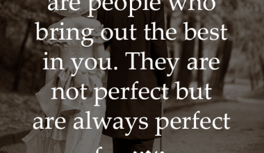 They Are Not Perfect But Are Always Perfect For You
