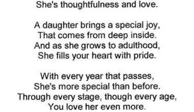 A Daughter Is Wonderful Blessing