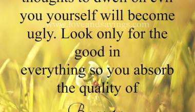 Look only for the good in everything