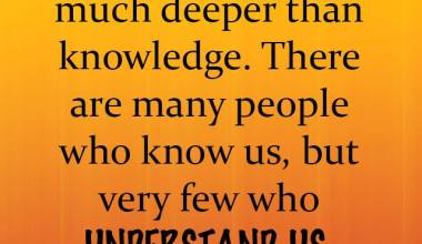 Understanding Is much Deeper Than Knowledge