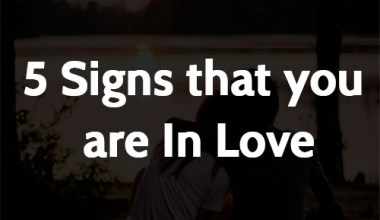 5 Signs that you are In Love
