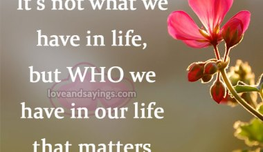 Our Life That Matters