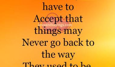 Sometimes you have to Accept