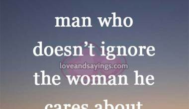 Beautiful is the man who doesn't ignore