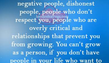 Relationships that prevent you from growning