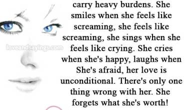 She can deal with stress and carry heavy burdens