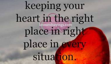 Keeping your heart in the right place