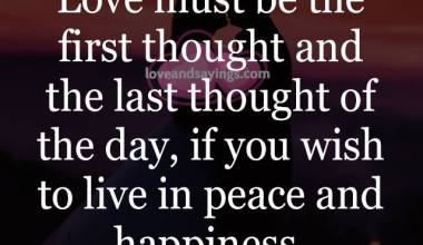 Love must be the First Thought