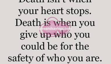 When your heart stops