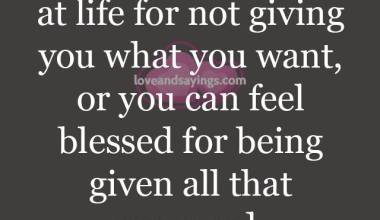You Can Feel Blessed For