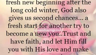 His love and make you new Again