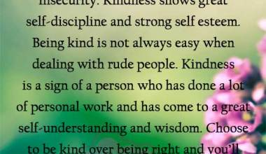 Kindness is a sign of strength