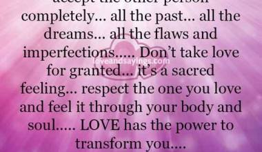 Love has the power to transform you