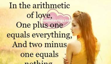 One plus one equals everything