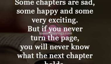 Some chapters are sad