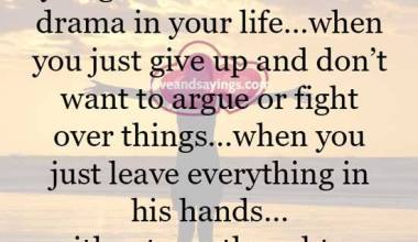 There comes a time when you get done with all the drama in your life