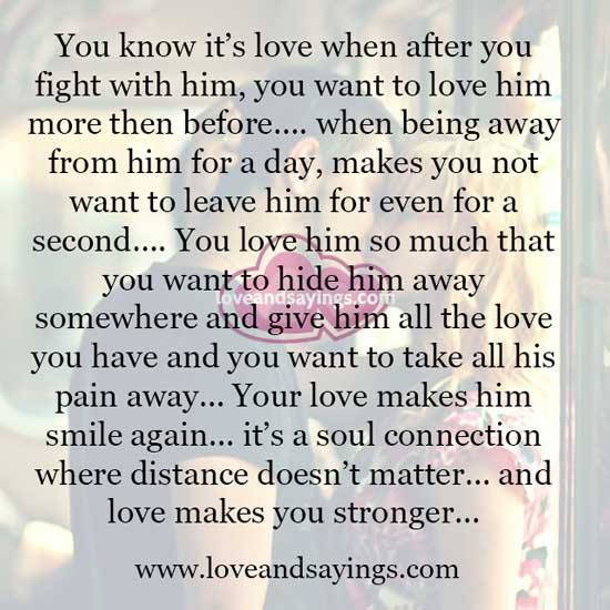 How do you know its love