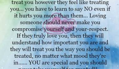You are special and you should never take yourself for granted