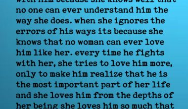 When a woman loves a man like crazy