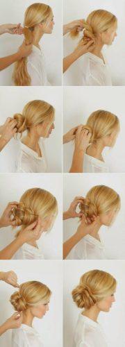 easy messy buns long hair tutorial