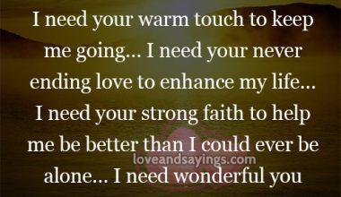 I need someone like you…