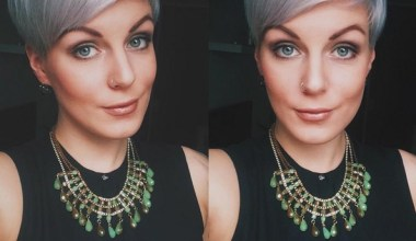 Natural Grey and Blue Hued Pixie