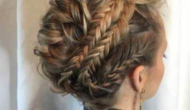 Mixed Braided Updo