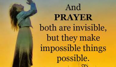 Faith And Prayer Both are invisible