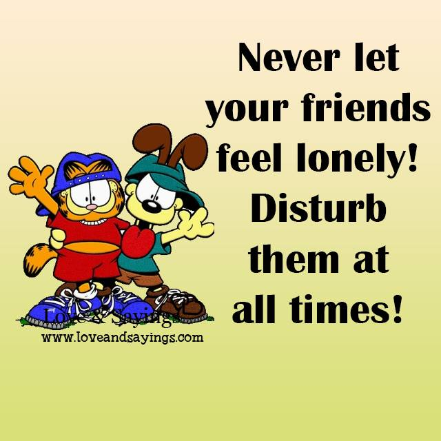 Feel lonely!