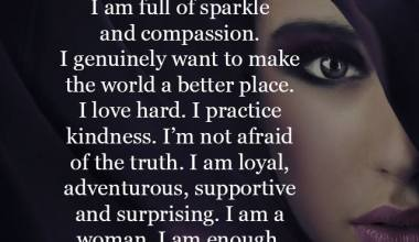 I am full of sparkle and compassion